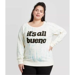 Zoe + Liv its all bueno crewneck sweatshirt XXL